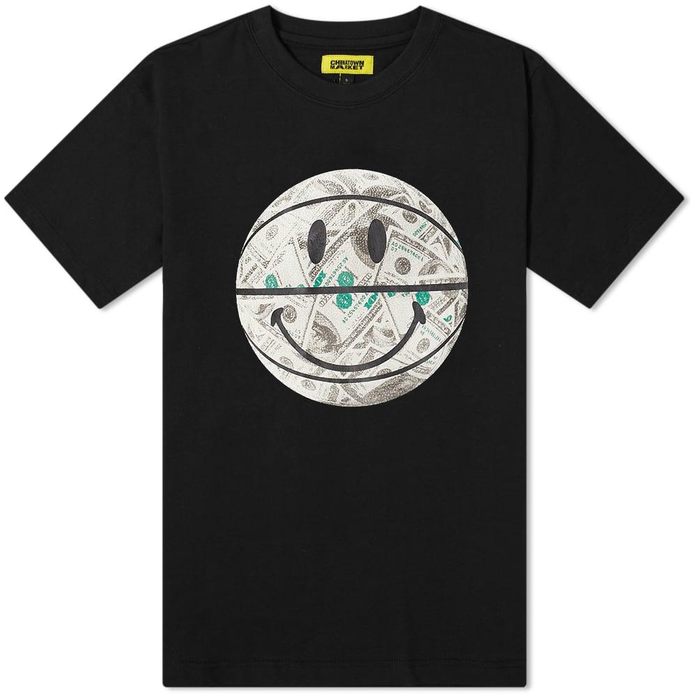 Chinatown Market Smiley Money Ball T-Shirt - Black