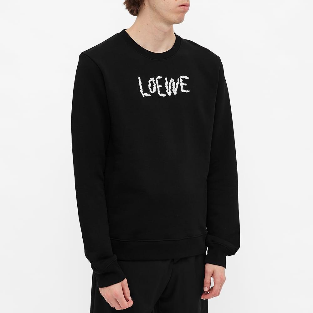 Loewe Embroidered Crew Sweat - Black