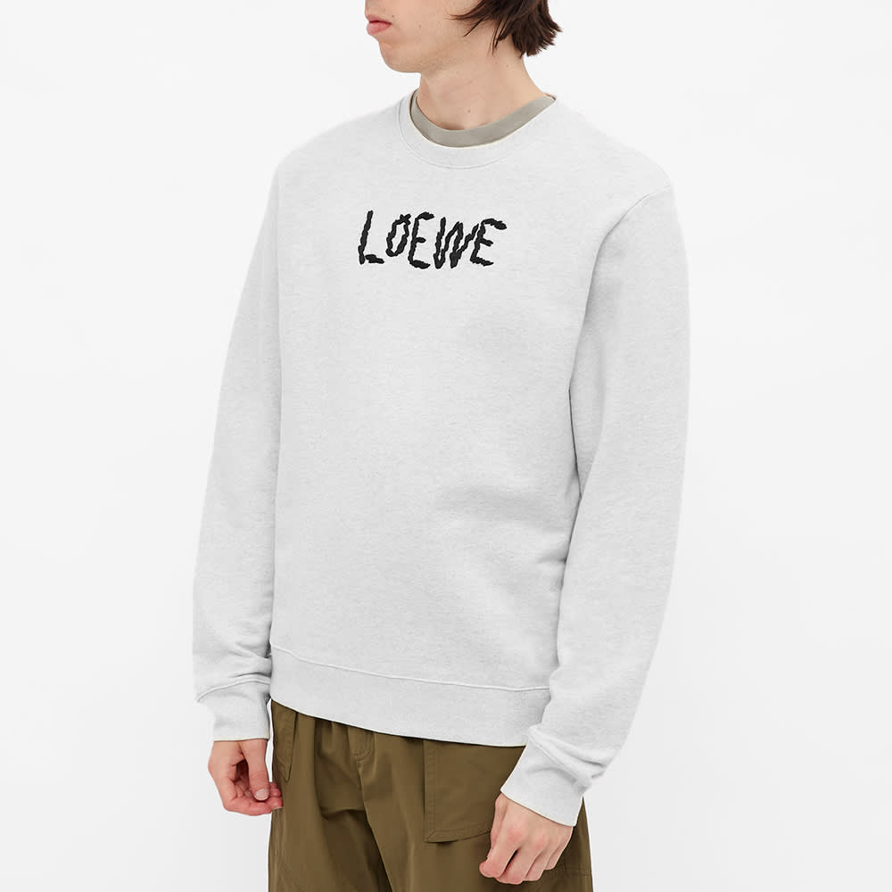 Loewe Embroidered Crew Sweat - Grey