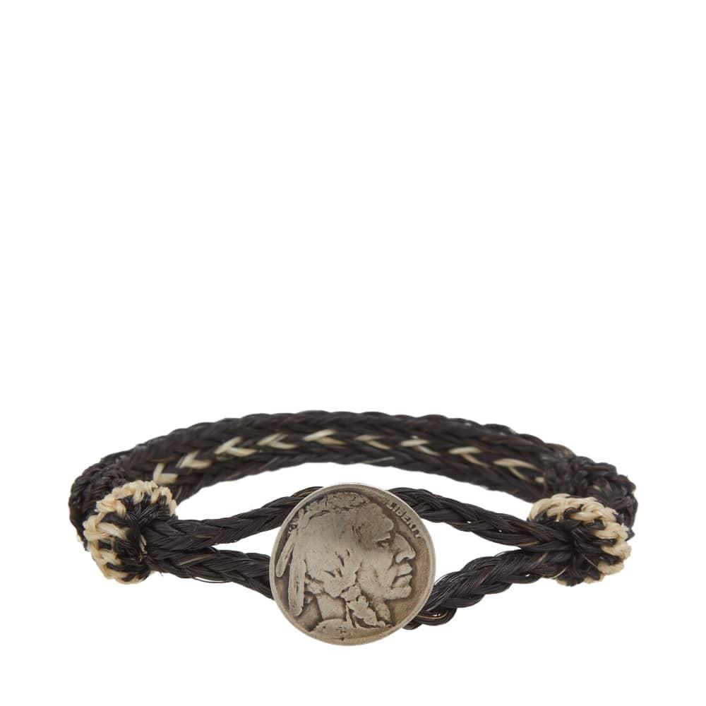 Chamula Indian Concho Bracelet - Black & Brown