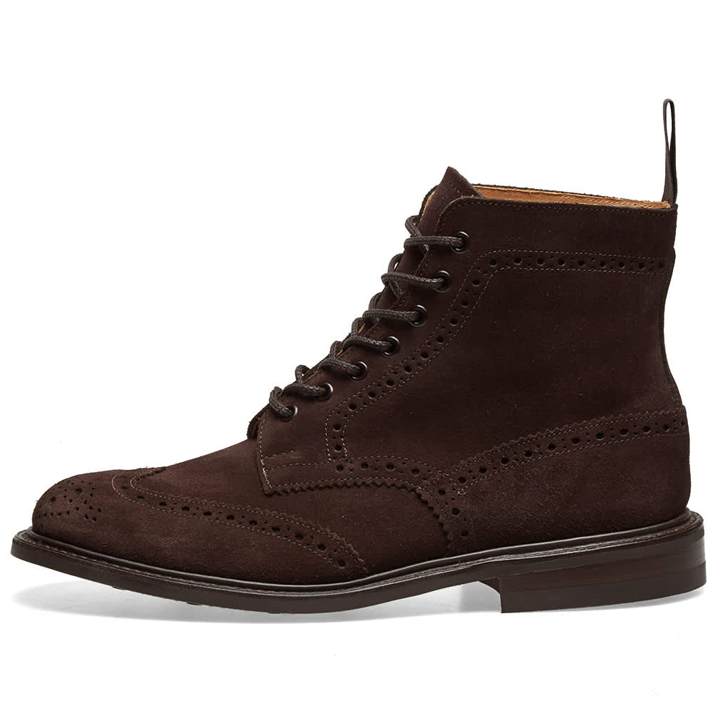 Tricker's Stow Brogue Boot - Coffee Ox Reversed Suede