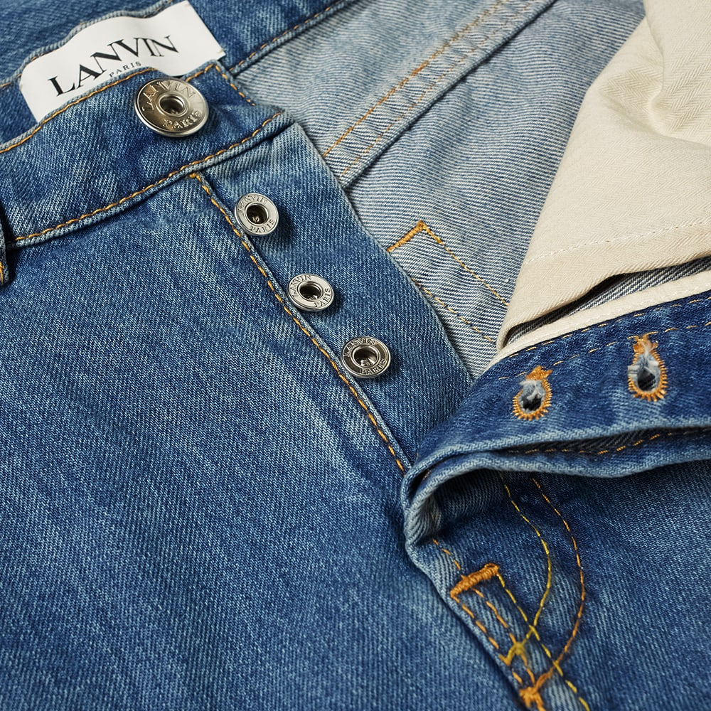 Lanvin Back Patch Logo Jean - Light Blue