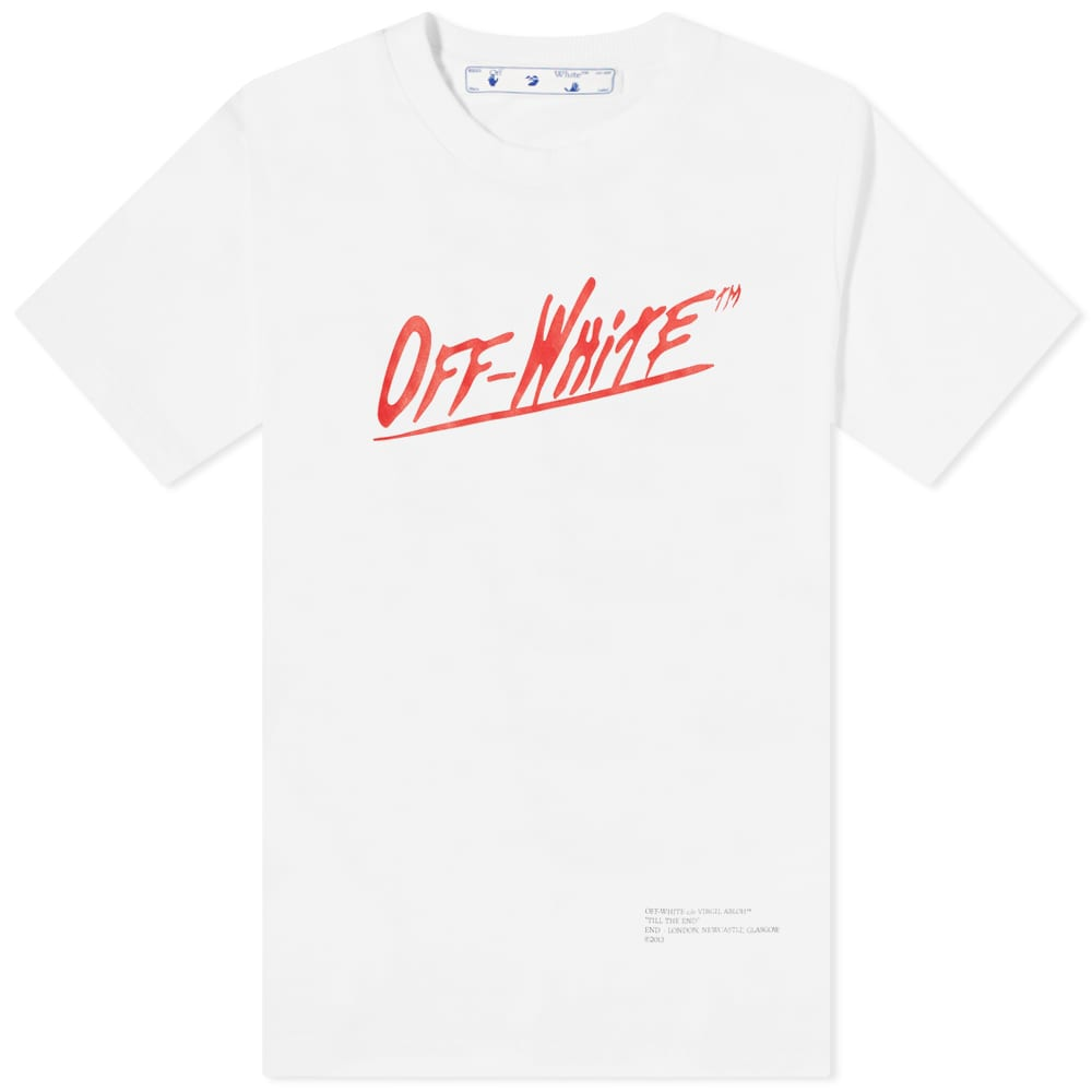 END. x Off-White Caravaggio Tee - White, Brown & Red