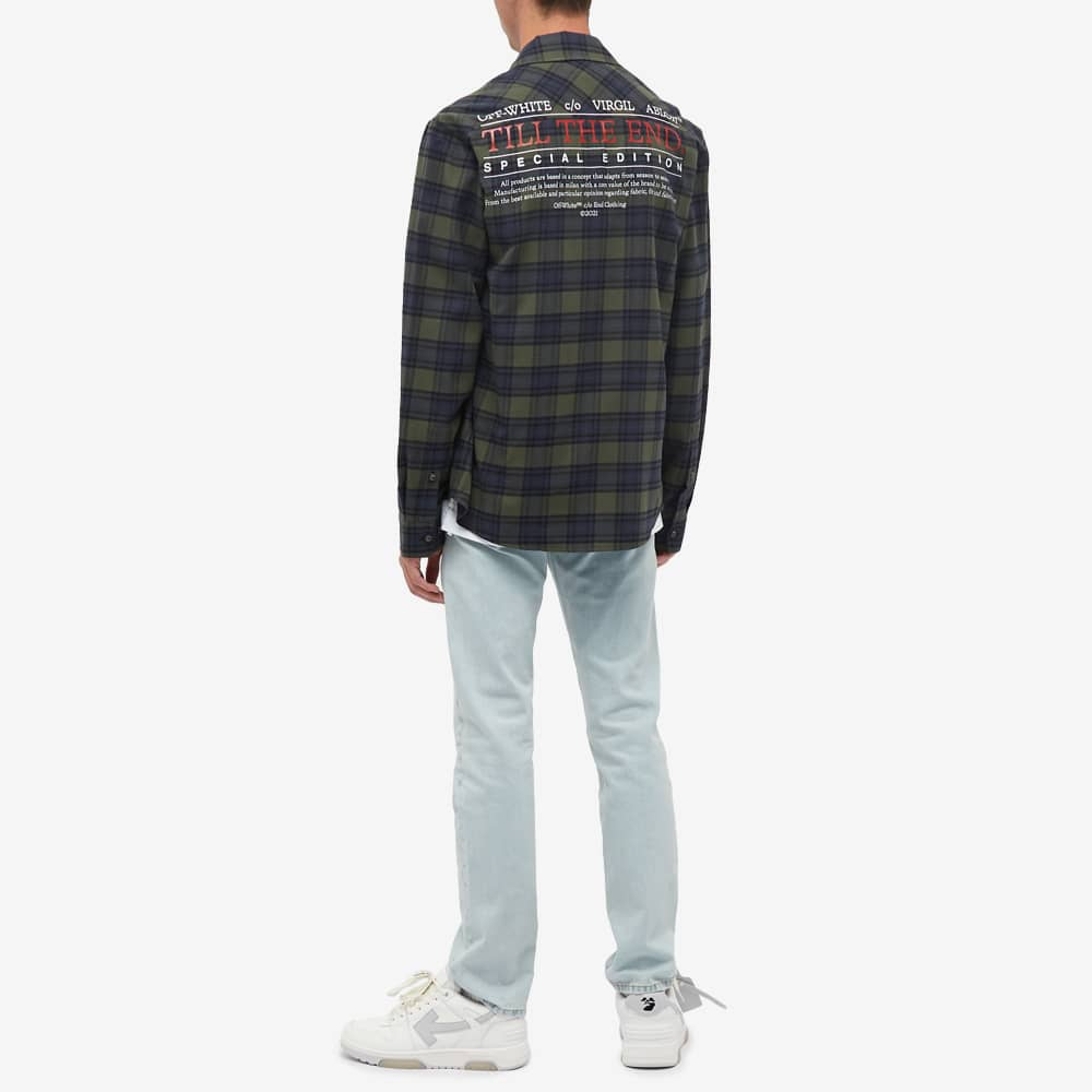 END. x Off-White Till The End Flannel Shirt - Blue, Green & Red