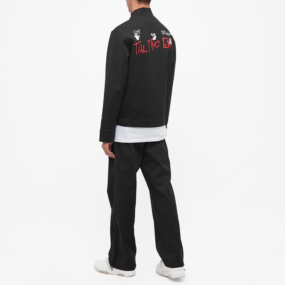 END. x Off-White Till The End Track Jacket - Black, Red & White