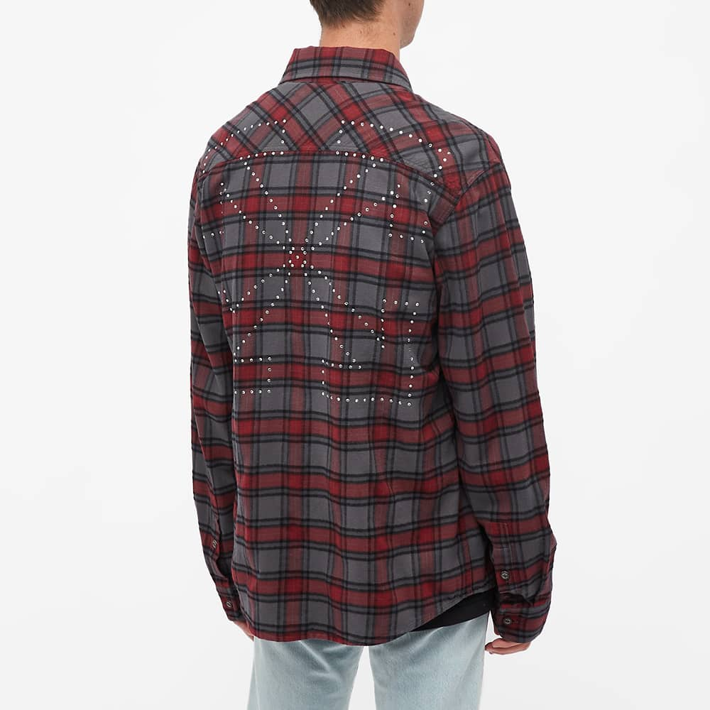 END. x Off-White  Arrows Flannel Shirt - Blue, Red & Light Blue