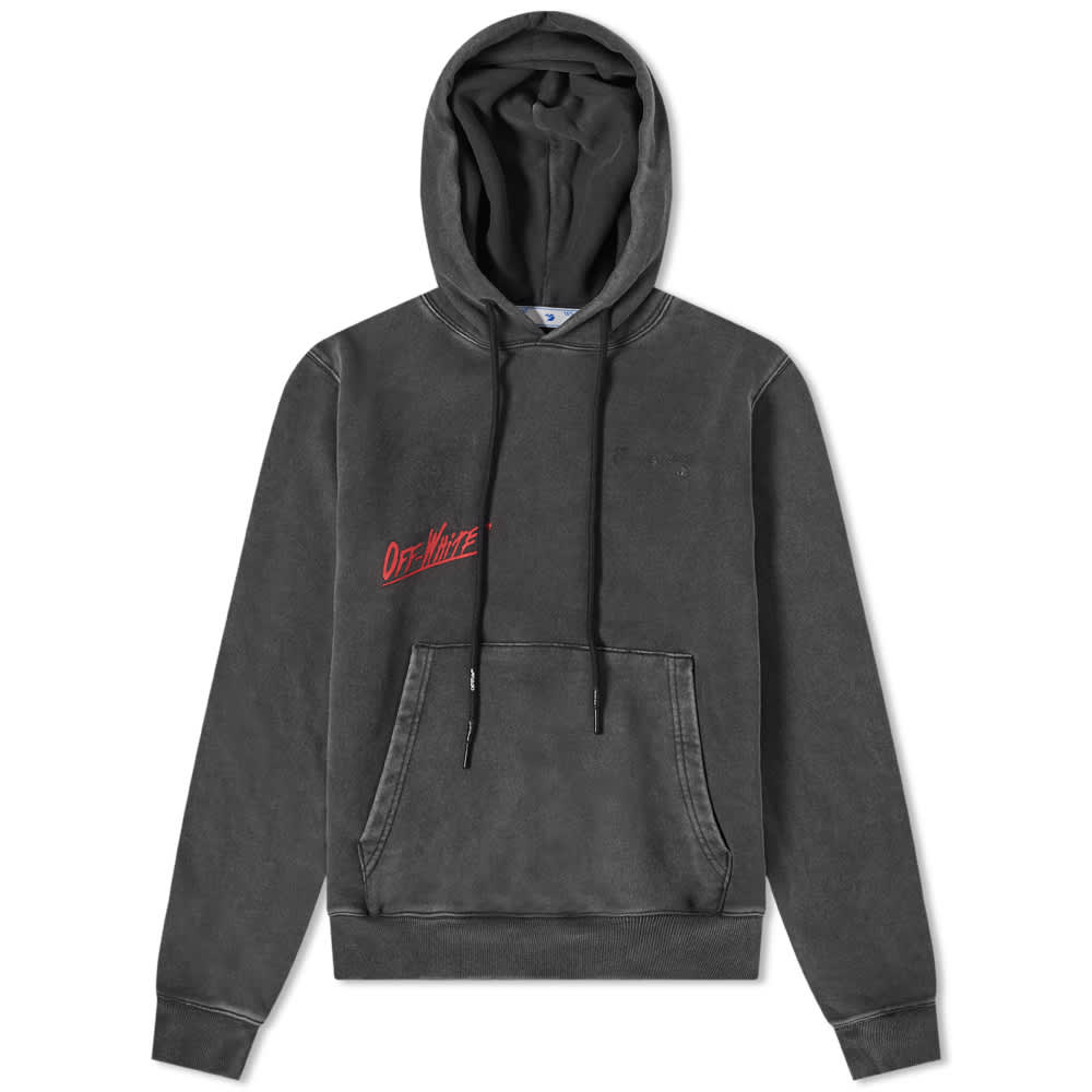 END. x Off-White Till The End Popover Hoody - Black, Red & Black