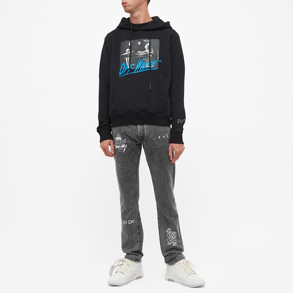 END. x Off-White Bandit Slim Jeans - Black & White