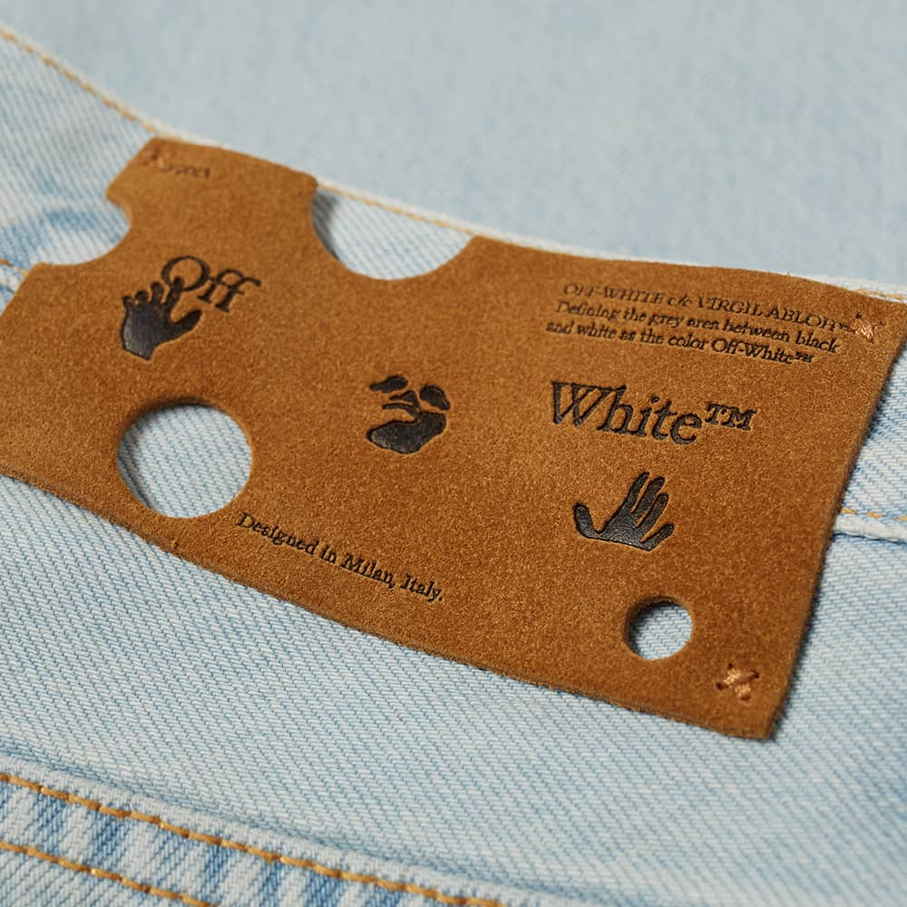 END. x Off-White Bandit Slim Jeans - Light Blue & Black