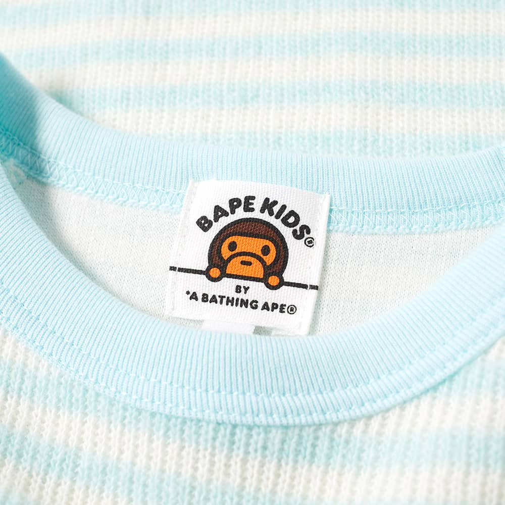A Bathing Ape Kids Long Sleeve Baby Milo Hoop Tee - Sax