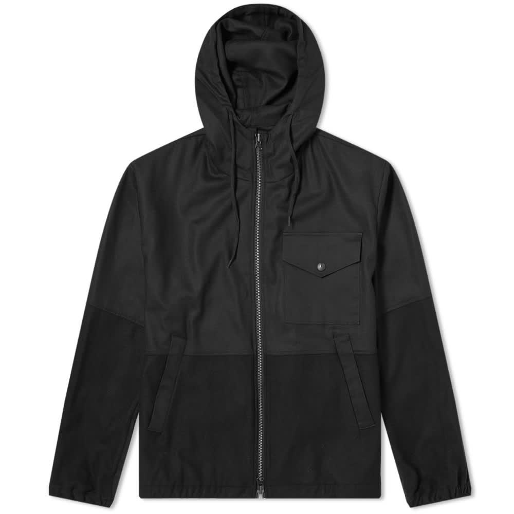 Barena Hooded Patchwork Jacket - Nero