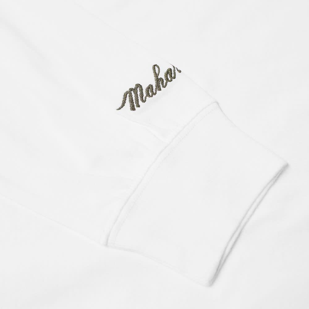 Maharishi Long Sleeve Embroidered Dragon Tee - White