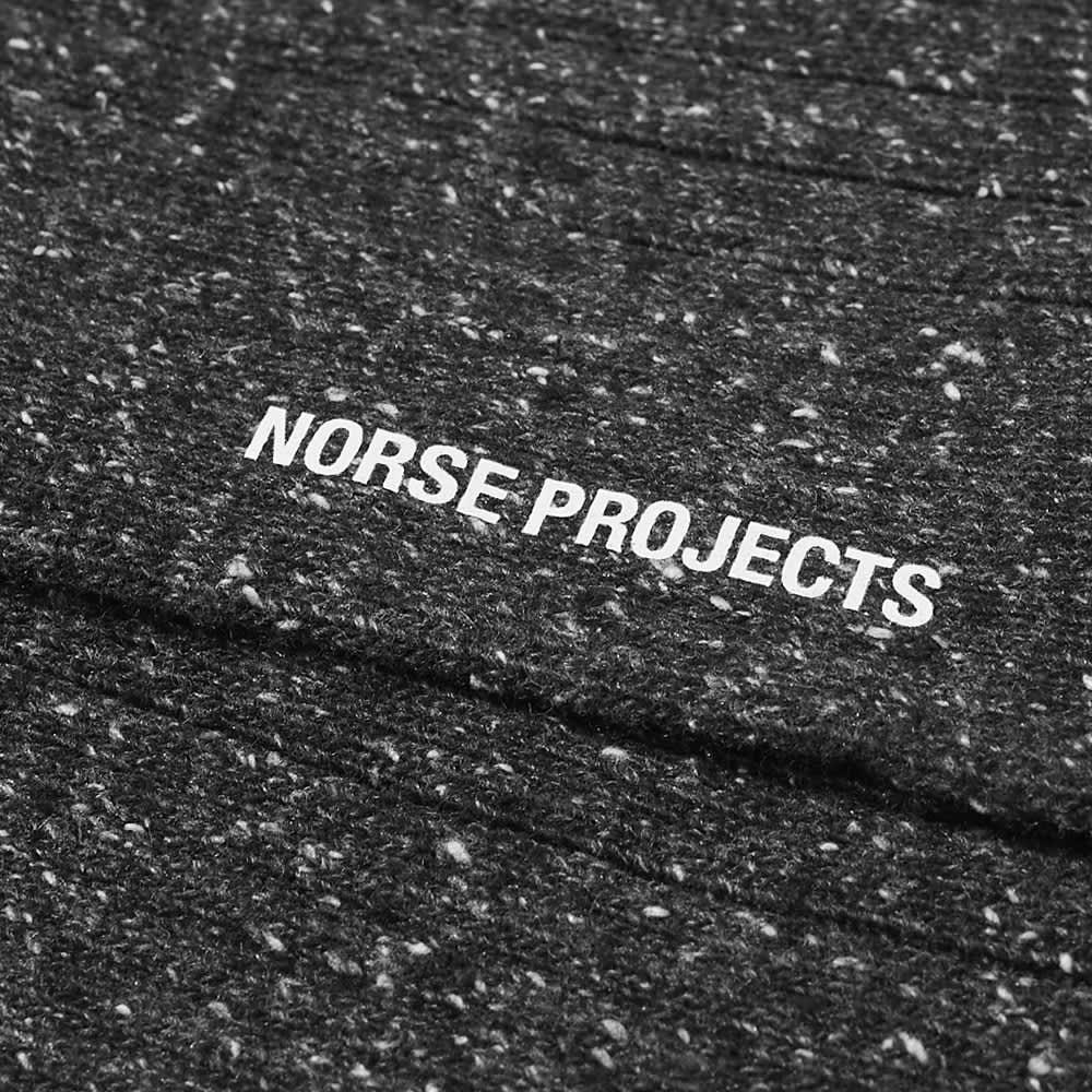 Norse Projects Bjarki Neps Sock - Charcoal Melange
