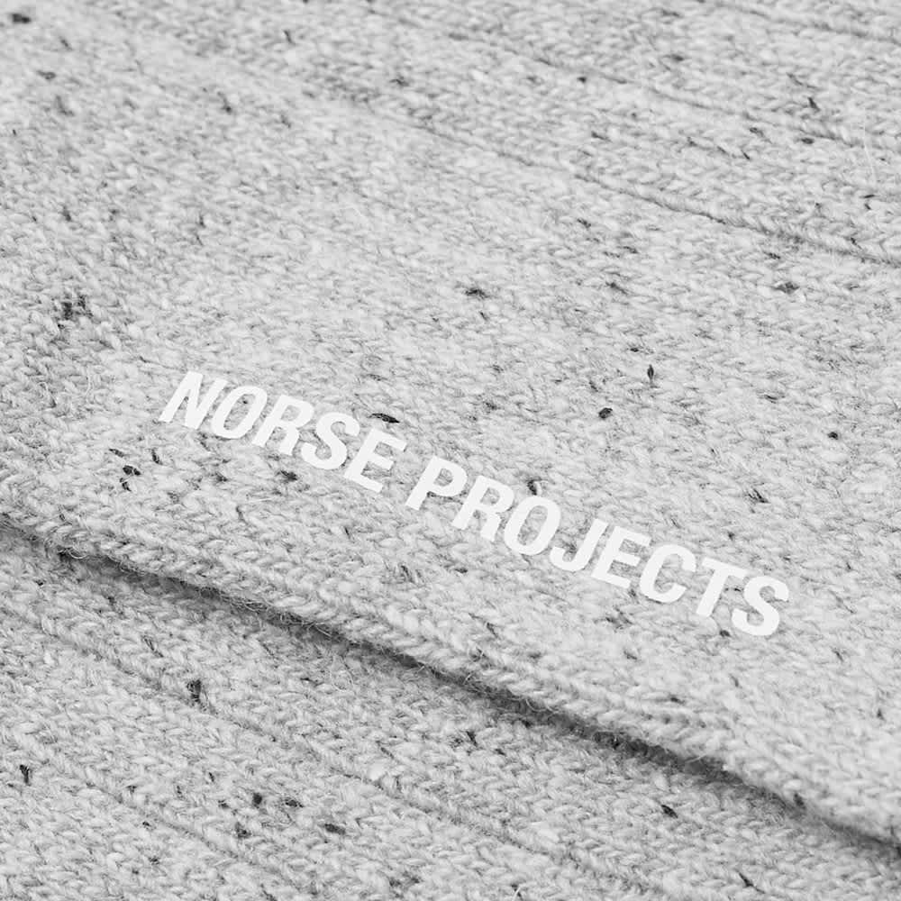 Norse Projects Bjarki Neps Sock - Light Grey Melange