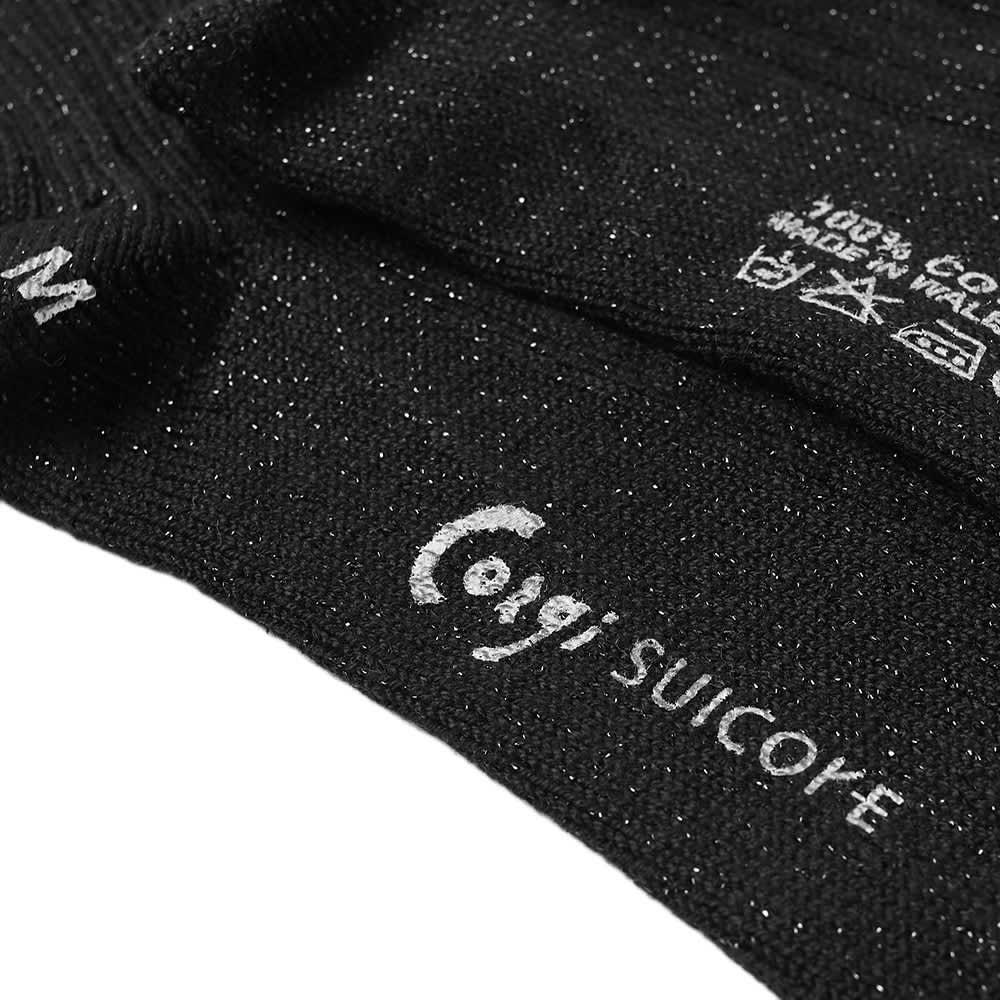 Suicoke X Corgi LUTEX High Sock - Black & Black