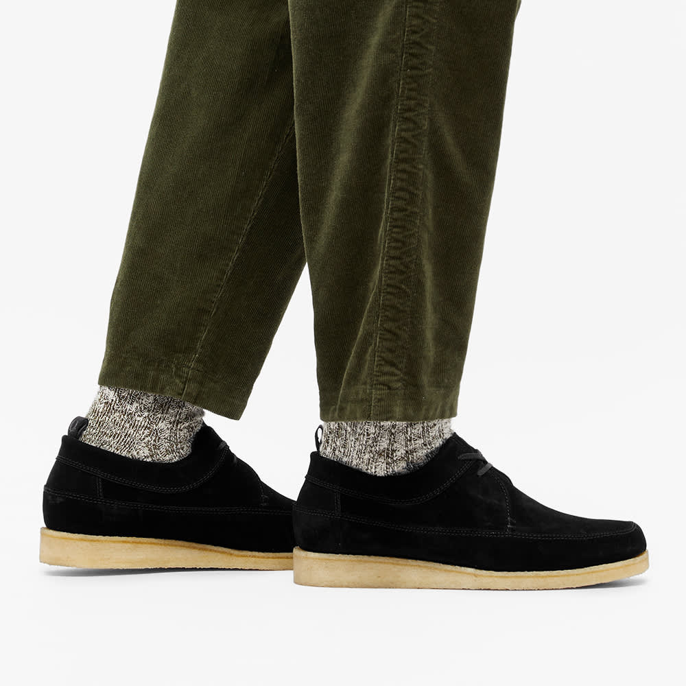 Fred Perry x Padmore And Barnes Suede Low - Black