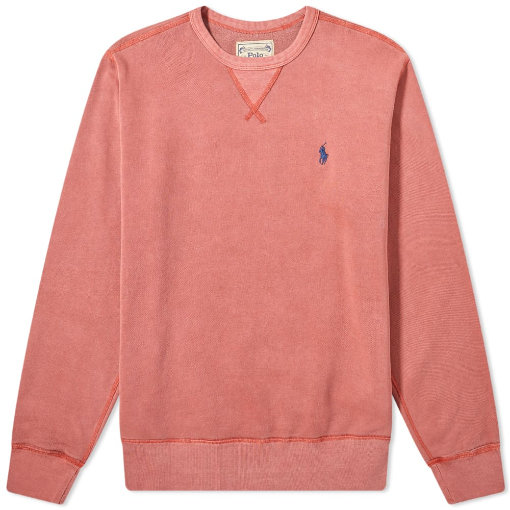 Polo Ralph Lauren Vintage Fleece Crew Sweat - Red Brick