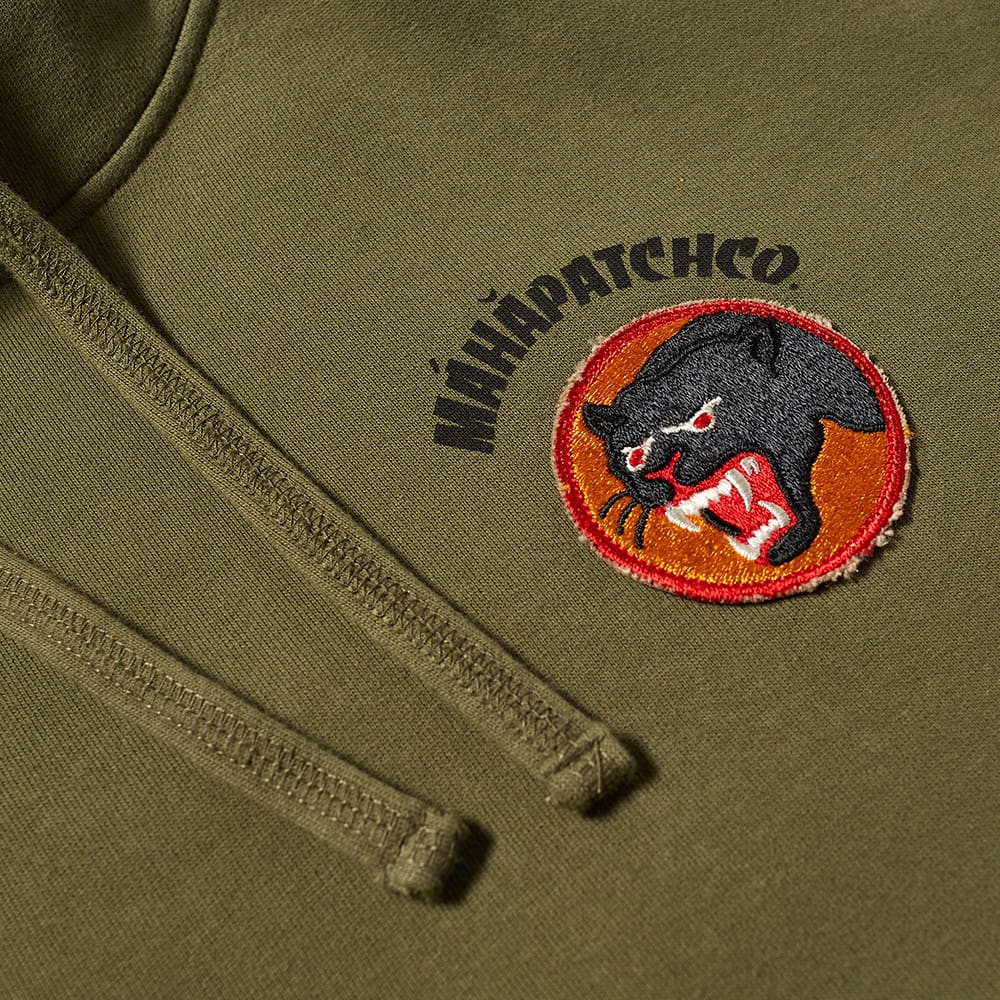 Maharishi Vintage Panther Patch Hoody - Olive