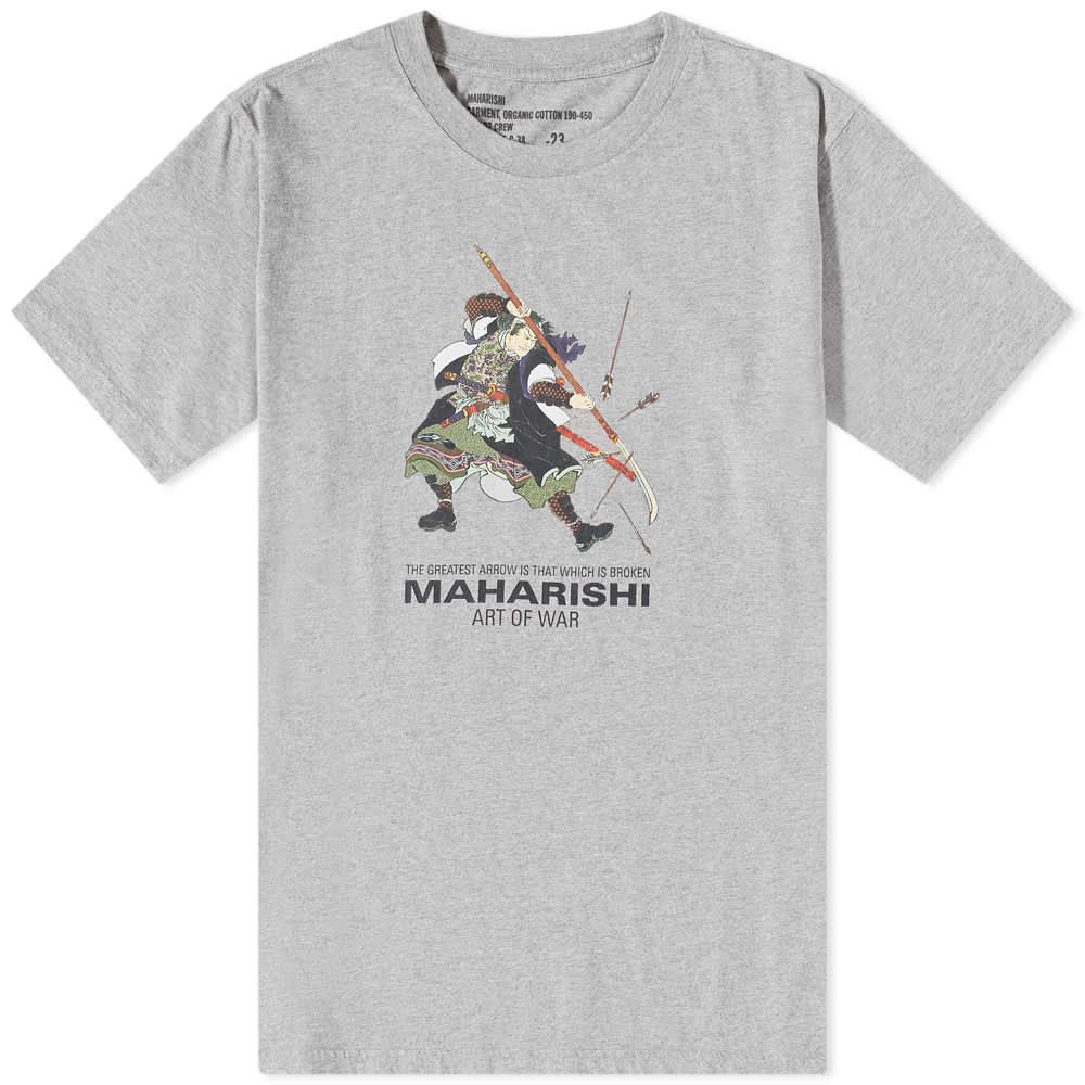 Maharishi Samurai Broken Arrows Tee - Grey Marl