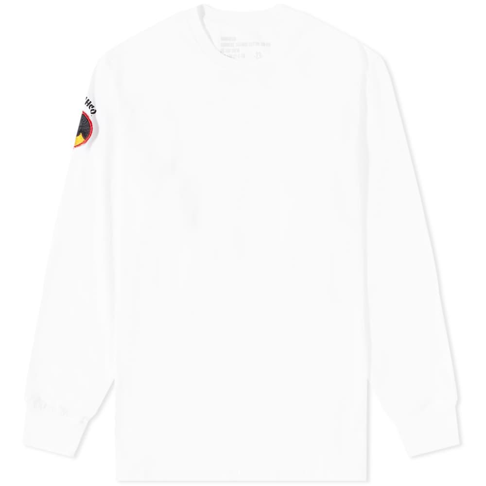 Maharishi Long Sleeve Panther Patch Tee - White