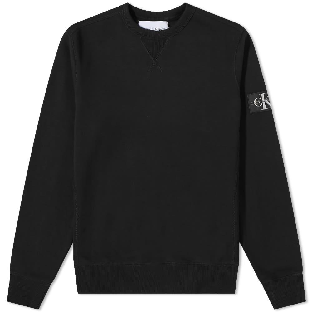 Calvin Klein Monogram Sleeve Badge Crew Sweat - CK Black