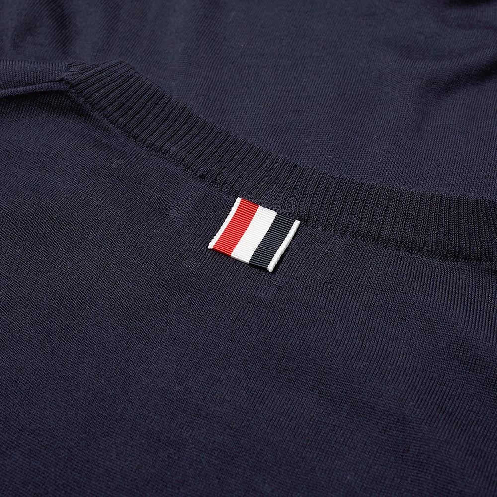 Thom Browne Classic Merino Crew Knit - Navy