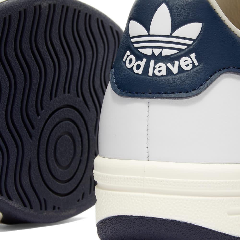 Adidas Rod Laver - White, Navy & Off White
