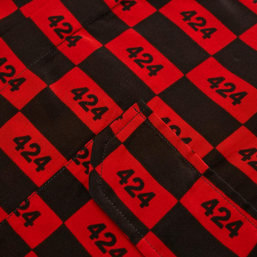 424 Logo Vacation Shirt - Red & Black