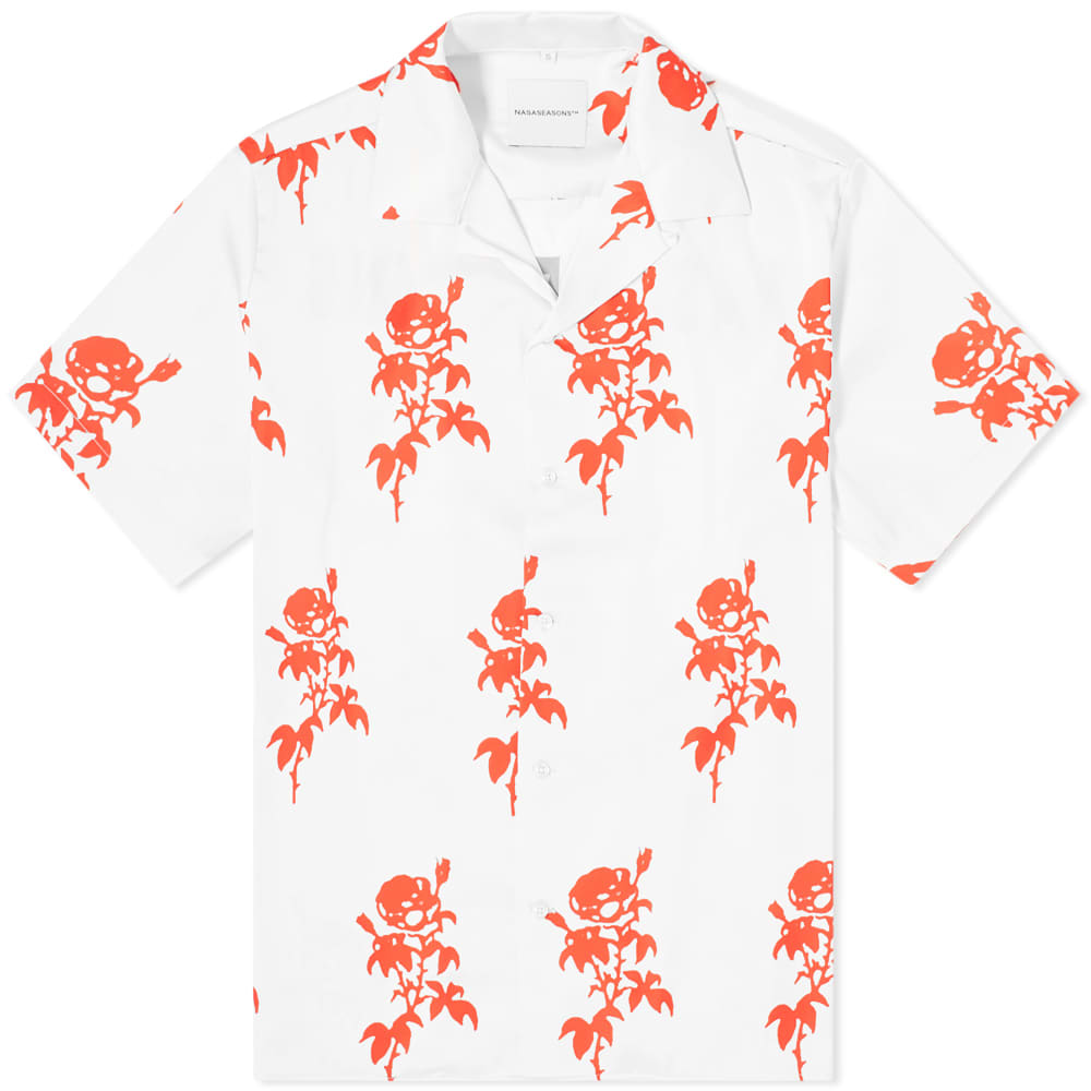 NASASEASONS Rose Print Vacation Shirt