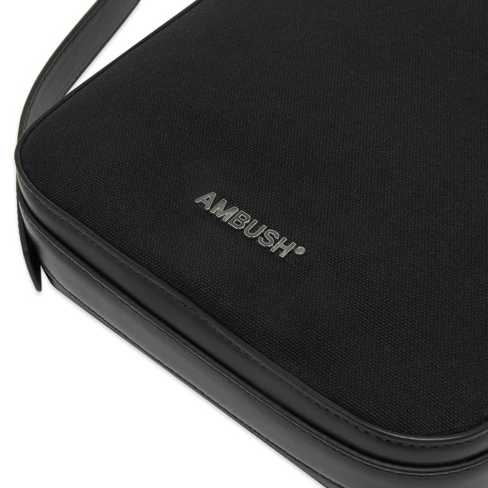 Ambush Canvas Crossbody Bag - Black & Silver