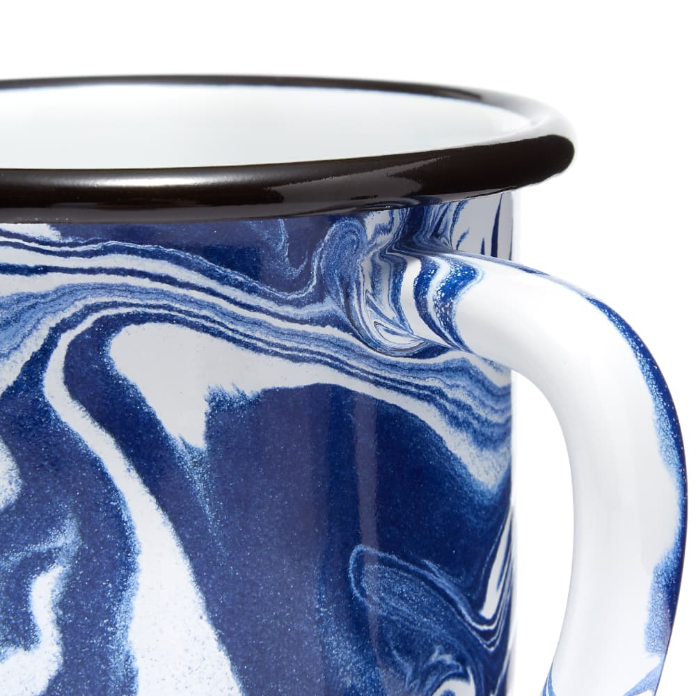 BORNN Enamelware Classic Marble Large Mug - Blue