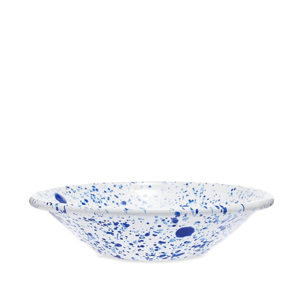 BORNN Enamelware Mediterranean 17cm Bowl - Blue & White