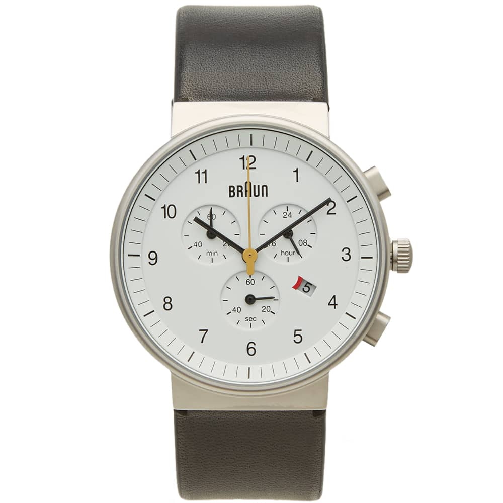 Braun BN0035 Chronograph Watch - White & Black