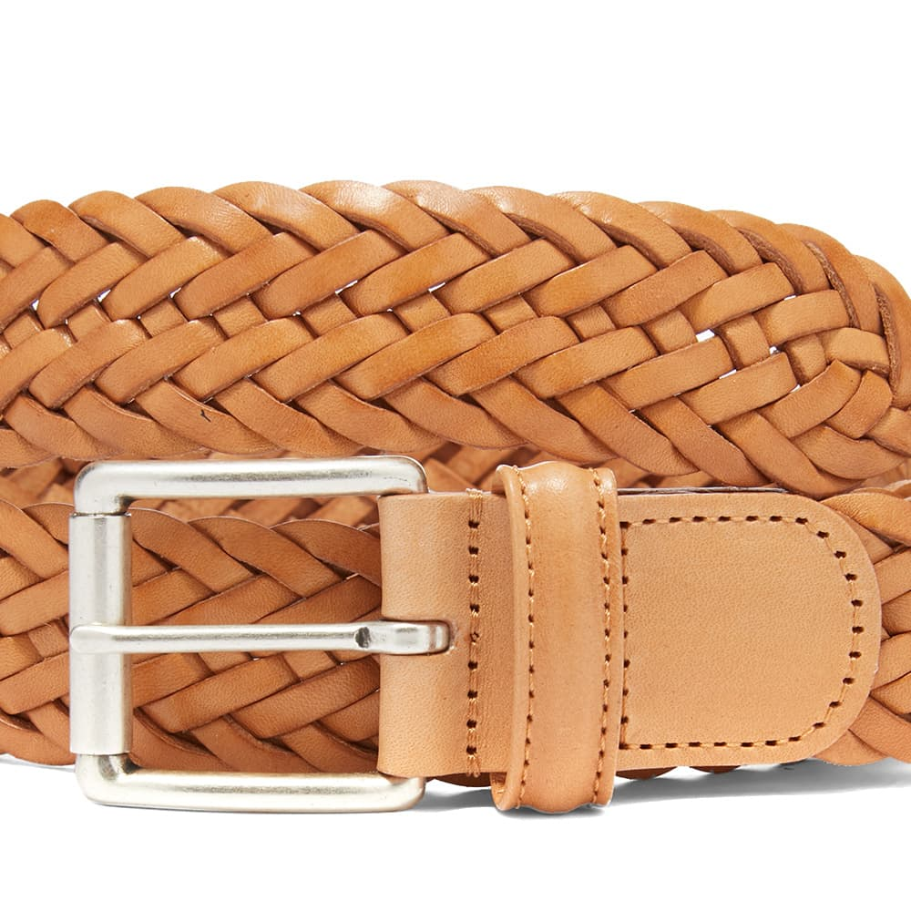 Anderson's Woven Leather Belt - Natural