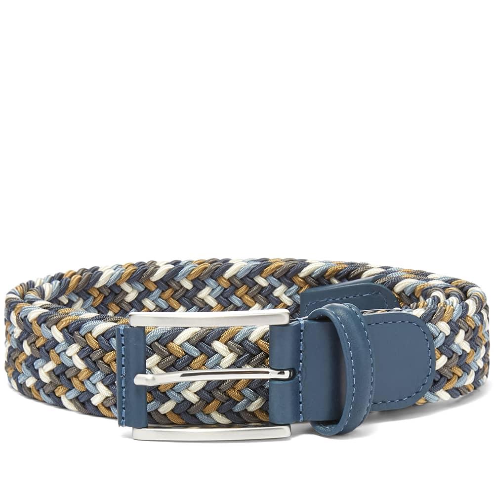 Anderson's Woven Textile Belt - Blue, Khaki & Navy