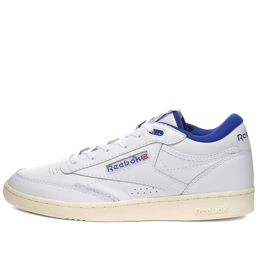 Reebok Club C Mid 2 - White & Bright Cobalt