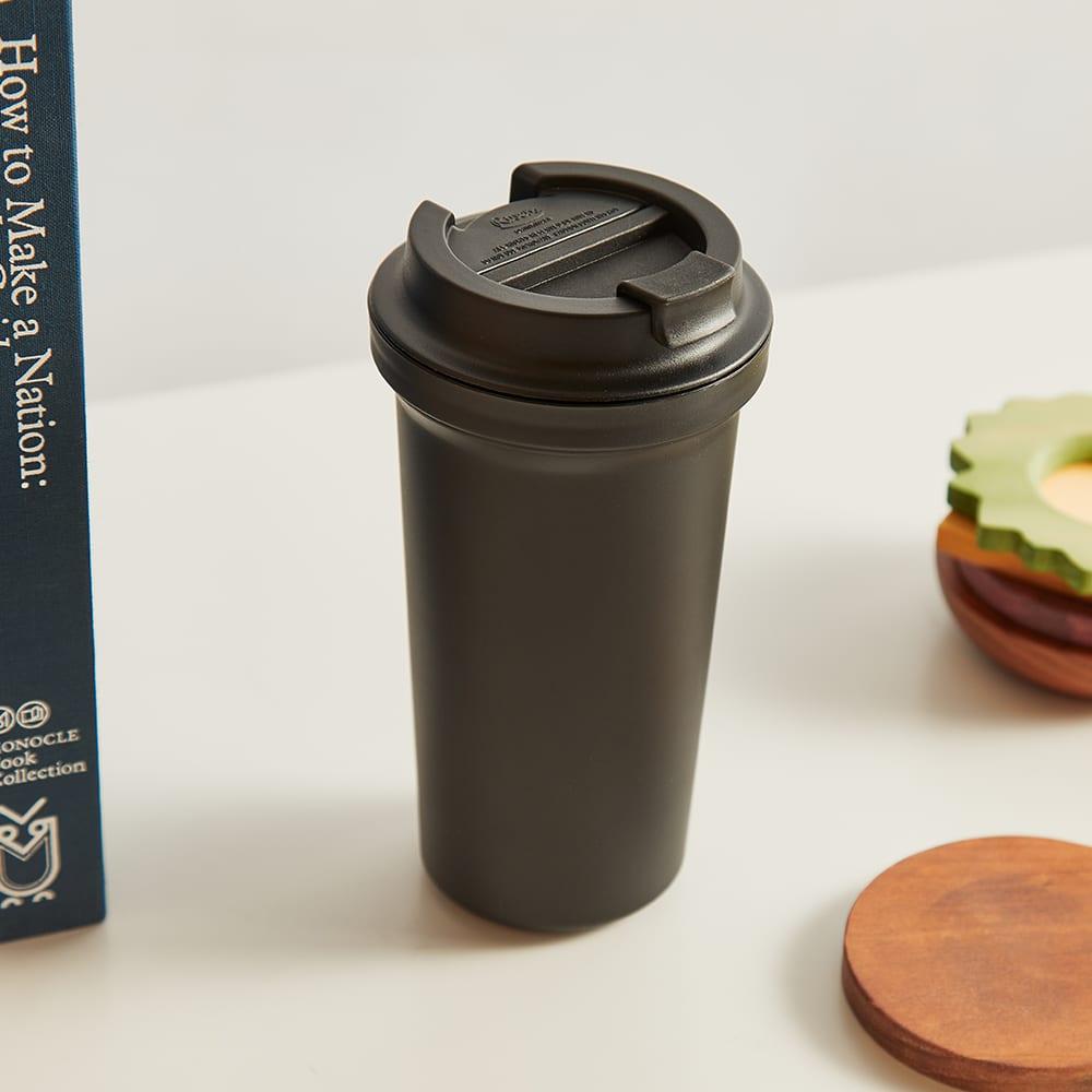 Rivers Wallmug Bearl Solid Double Walled Reusable Coffee Cup - Black 400ml