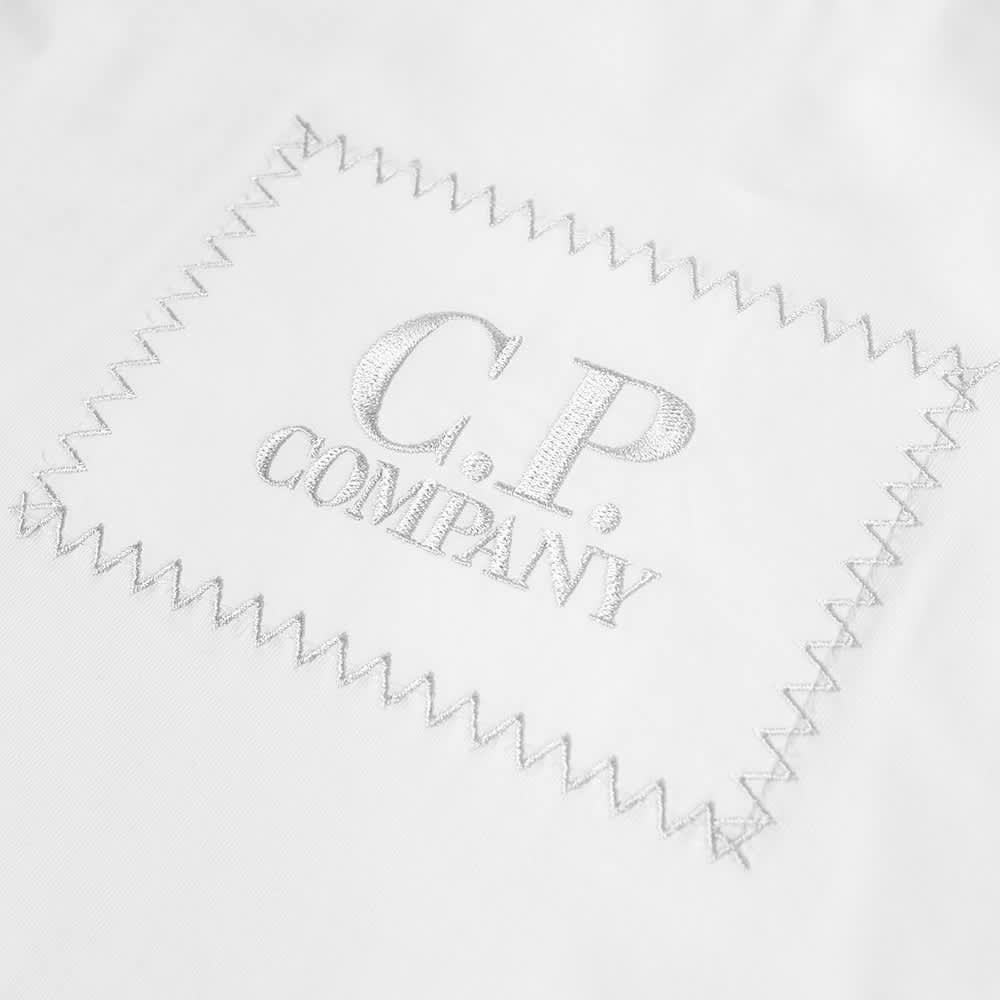 C.P. Company Undersixteen Long Sleeve Text Logo Tee - Gauze White