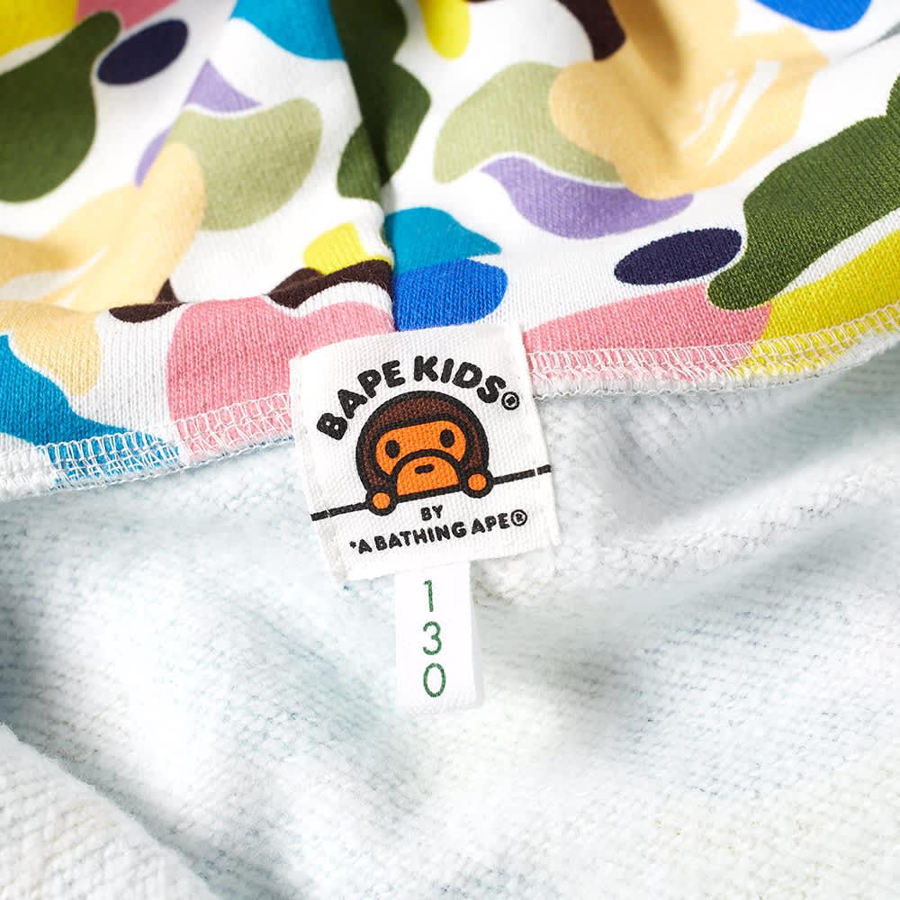 A Bathing Ape Kids Multi Camo Shark Zip Hoody - White