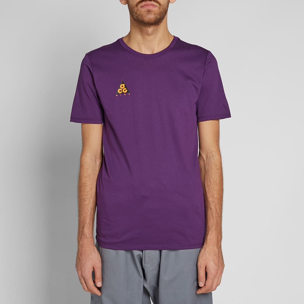 Nike ACG NSW Tee - Night Purple & Bright Mandarin