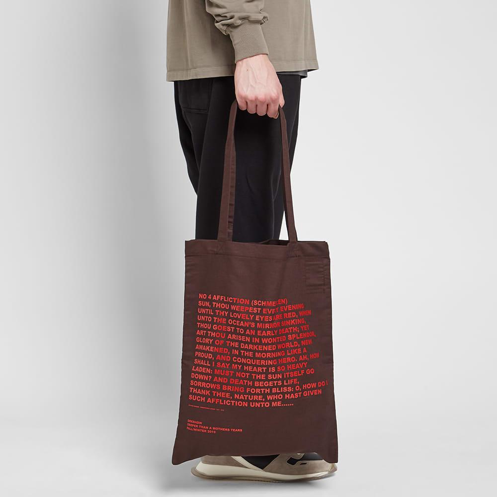 Rick Owens DRKSHDW Poem Tote Bag - Amber & Red