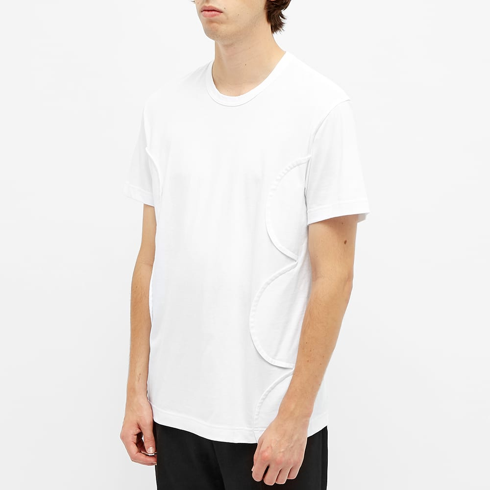 Comme des Garcons Homme Plus Polka Dot Side Panel Tee - White