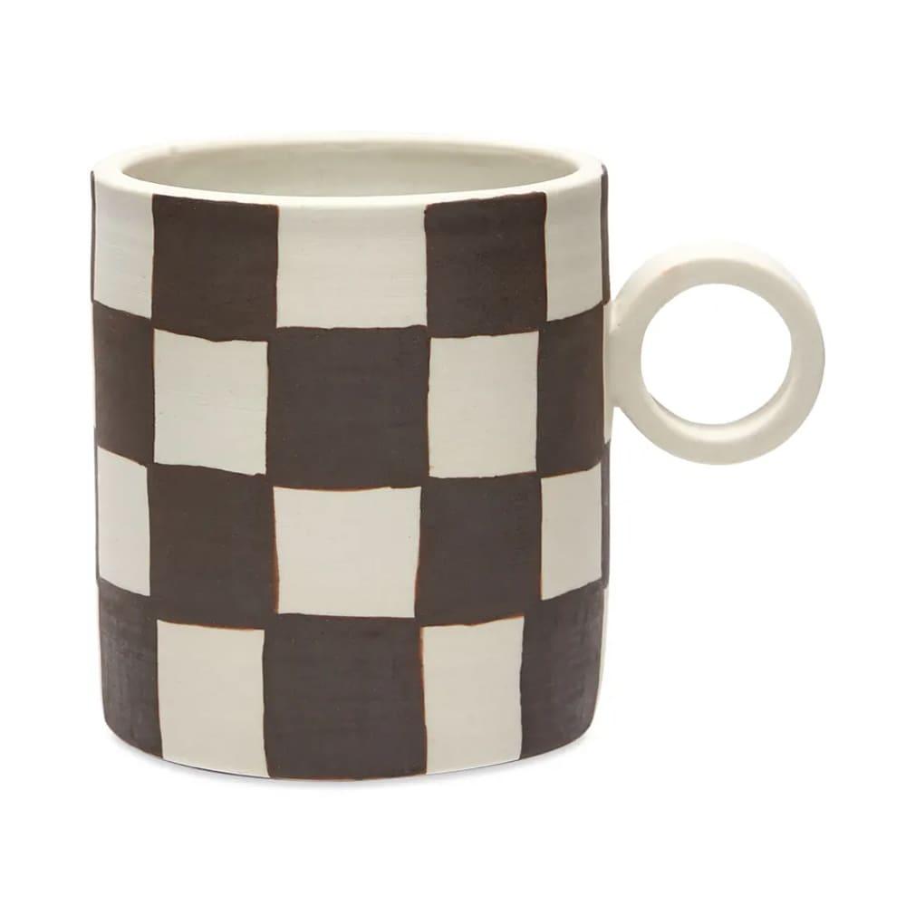 Mellow Ceramics Totem Mug - Painted Checkers