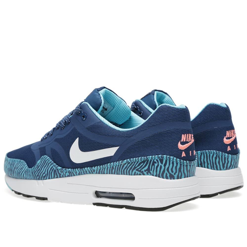 Nike Air Max 1 Premium Tape shoes turquoise blue