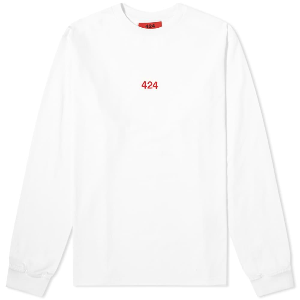 424 Long Sleeve Classic Logo Tee - White