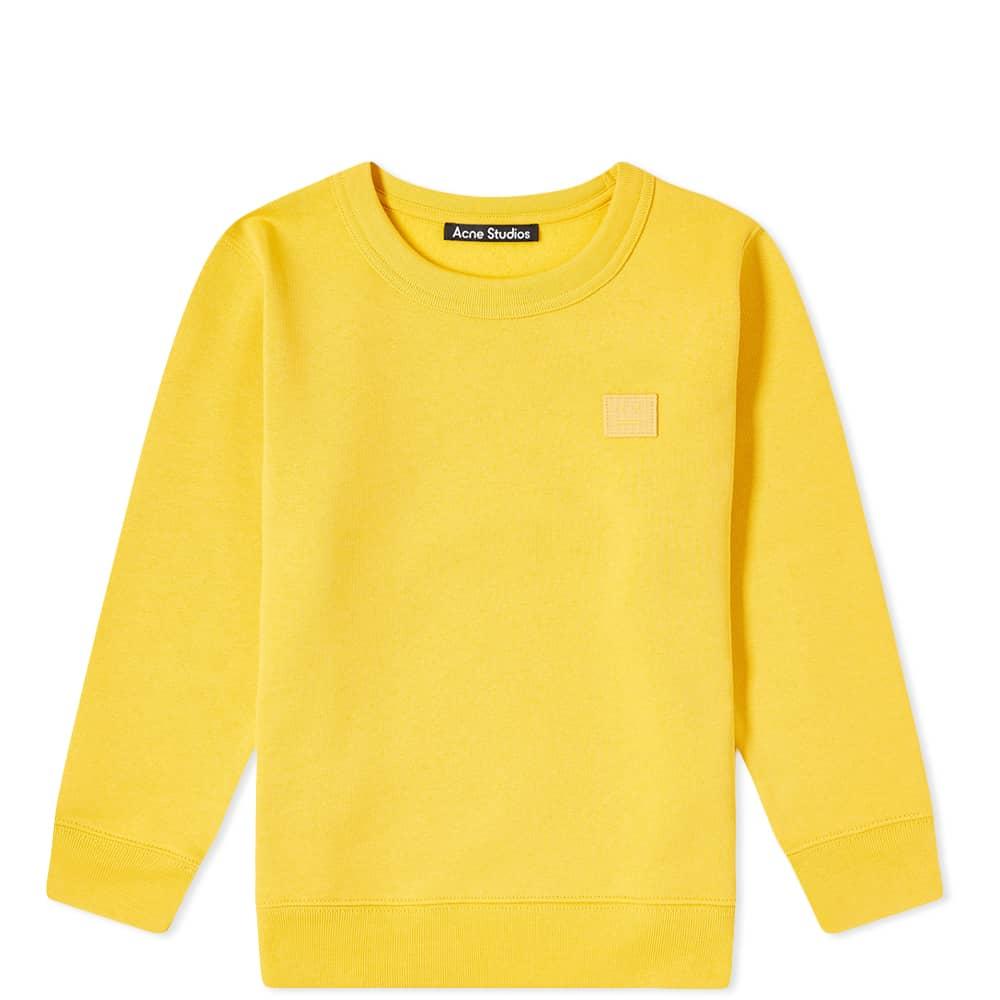 Acne Studios Mini Fairview Crew Sweat - Honey Yellow