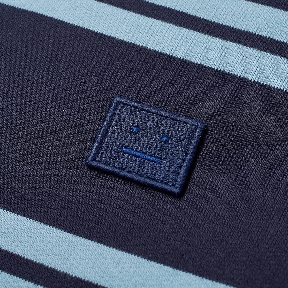 Acne Studios Mini Fairview Stripe Crew Sweat - Navy Blue