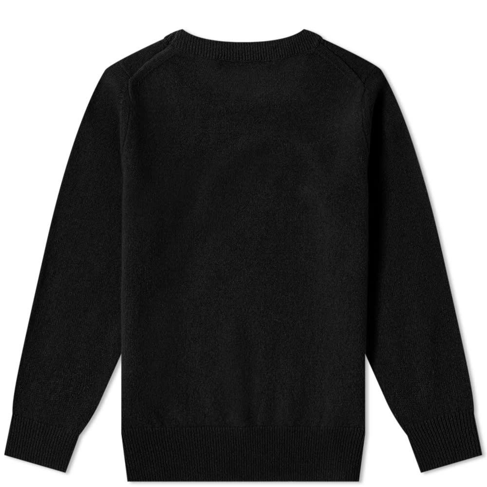 Acne Studios Mini Kalon Face Crew Knit - Black