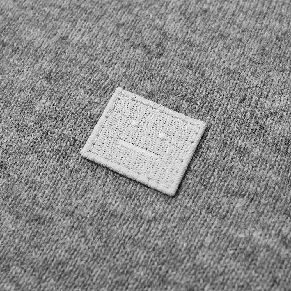 Acne Studios Mini Kalon Face Crew Knit - Grey Melange