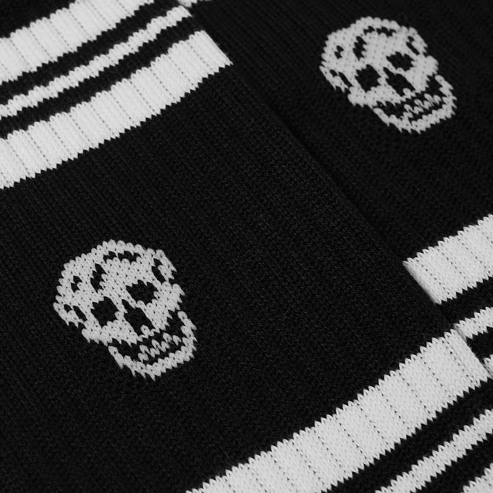 Alexander McQueen Sport Stripe Skull Sock - Black & Ivory